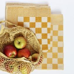 DDDDD Thee- en keukendoek Barbeque kleur ochre